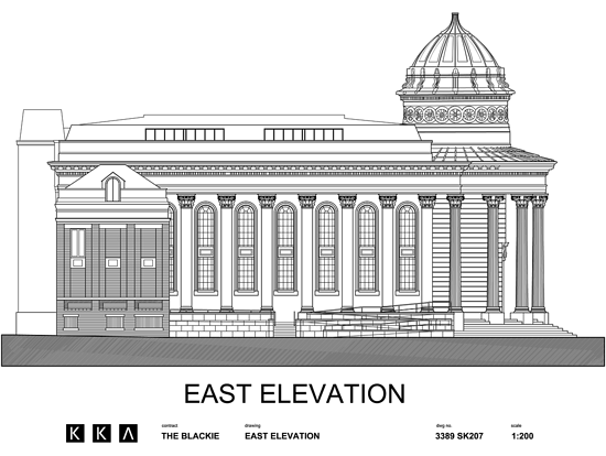 East Elevation of The Black-E