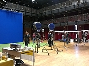Filmshoot in the Main Space-set up