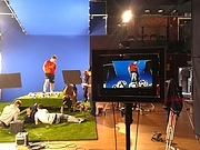 Filmshoot in the Main Space-setting the stage