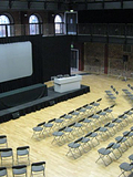 Lay out of main space with screens etc for the EEC Cultural confeence