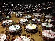 Main hall  set up for a wedding Oct 2013