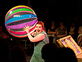 Declaration-image: Actress with a beach ball