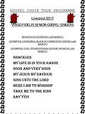 Gospel tour poster